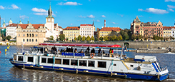 One-hour cruise on the Vltava river
